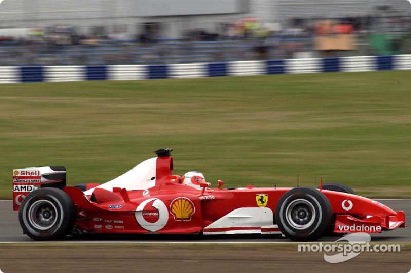 Ganador del Gran Premio de Gran Bretaña de F1 2003: Rubens Barrichello (Ferrari F2003-GA)
