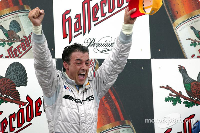 The podium: race winner Jean Alesi
