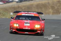 la Ferrari 550 Maranello n°80 de l'équipe Prodrive pilotée par Jan Magnussen, David Brabham