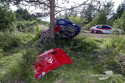 Aftermath of Colin McRae's crash