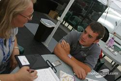 Bryan Sellers interviewed by Motorsport.com's Nancy Schilke