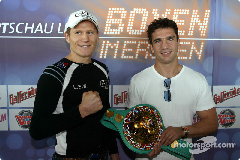 DTM vs boxing event: Danny Green and Markus Beyer