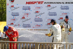 GTS podium: champagne for race winners Ron Fellows and Johnny O'Connell