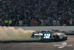 Ryan Newman's smoky celebration