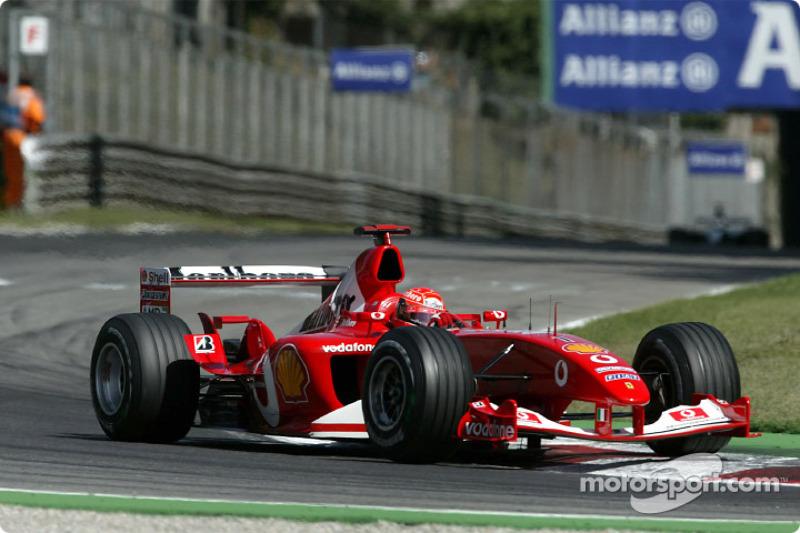 5º Michael Schumacher, Ferrari F2003-GA; Monza 2003: 257,584 km/h