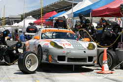 #79 J-3 Racing Porsche 911 GT3RS during a pit stop