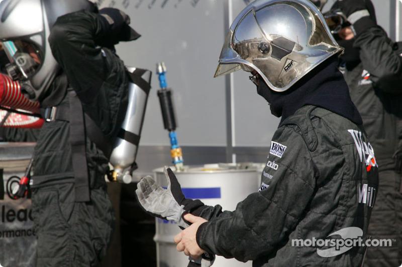Simulation d'arrêt au stand pour McLaren