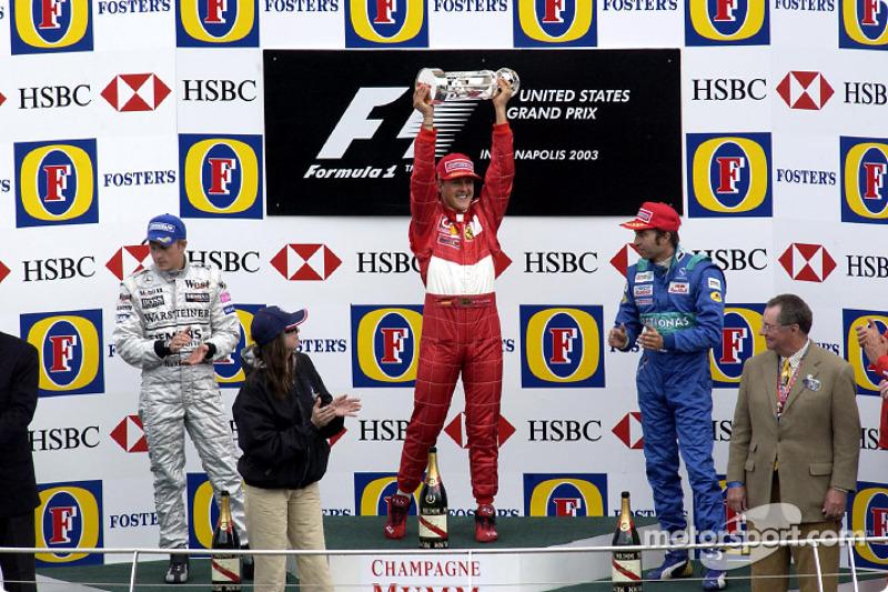 Maior vencedor da Fórmula 1, Michael Schumacher subiu no pódio 155 vezes em 308 GPs disputados