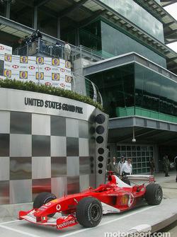 The winning car