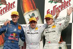Podium: race winner Jean Alesi with Mattias Ekström and Marcel Fassler