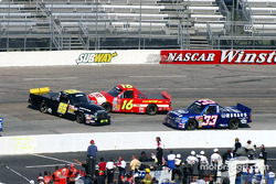 Mark McFarland and Travis Kvapil get into each other