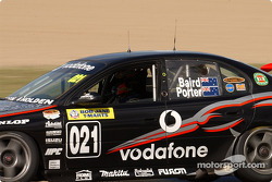 Craig Baird behind the wheel of the Teak Kiwi Racing Commodore