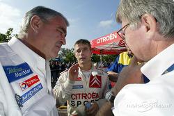 Sébastien Loeb with Guy Fréquelin and Jean-Claude Vaucard