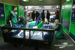 Pescarolo Sport garage area