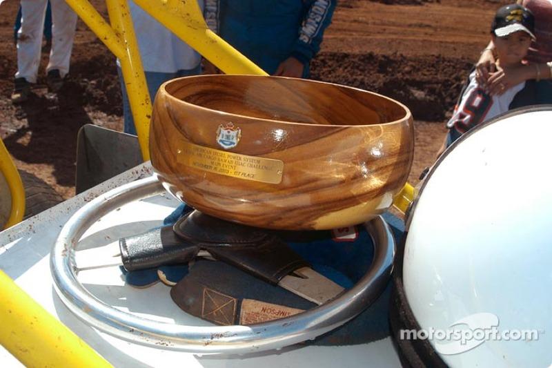 Dean Freitas' first place koa wood bowl trophy