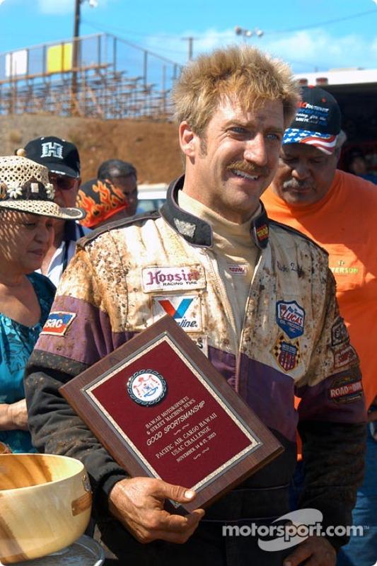 Rick Ziehl recieves the weekend's good sportsmanship award