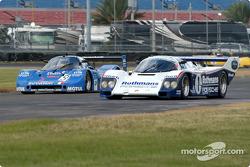 83 Sauber C-6 GTPL, GTP4 and 86 Porsche 962 GTP2