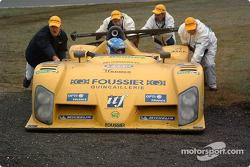 #25 Gérard Welter WR-Peugeot: Jean-René de Fournoux, William David, Bastien Brière off the track