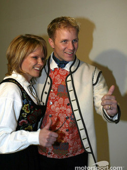 Petter Solberg with his wife