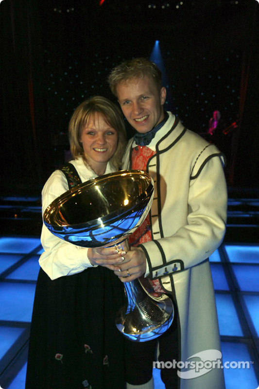 Petter Solberg and wife