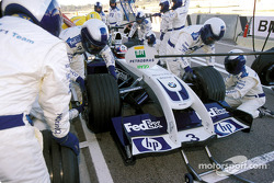 Pitstop practice for Williams team and Juan Pablo Montoya