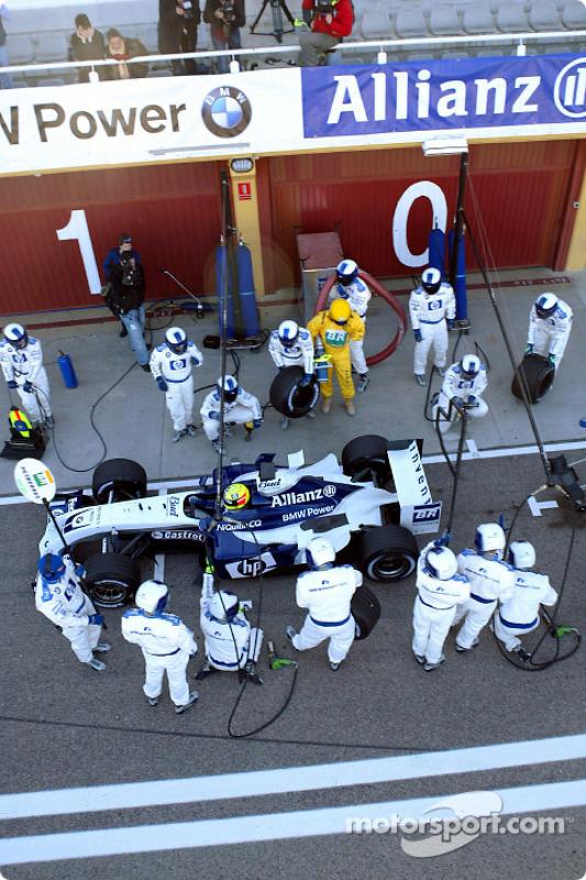 Entraînement aux pitstops pour Ralf Schumacher et Williams