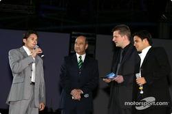 Giancarlo Fisichella, Peter Sauber and Felipe Massa