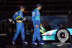 Felipe Massa and Giancarlo Fisichella join the stage