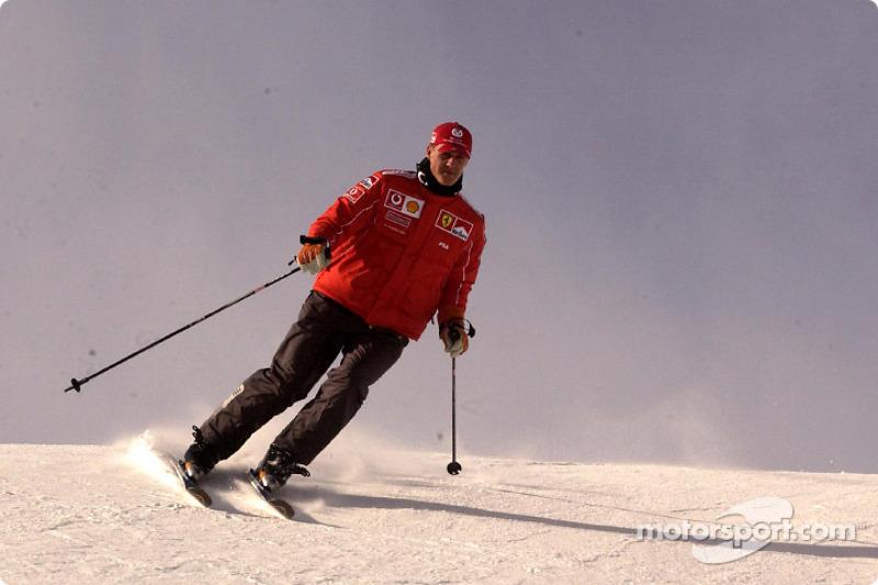 Michael Schumacher con skis