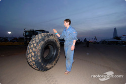 Oversized BF Goodrich truck tire