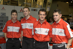 Mitsubishi WRC 04 drivers line-up: Gilles Panizzi;Kristian Sohlberg;Daniel Sola and Gianluigi Galli