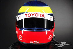 Ricardo Zonta's helmet