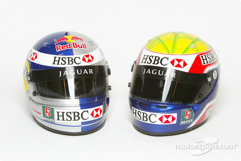 Mark Webber ve Christian Klien'in, kask