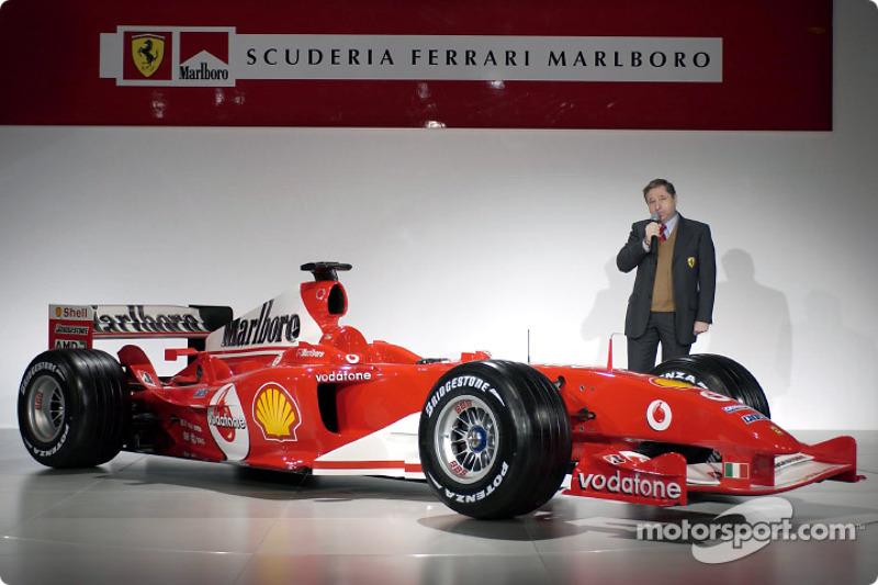 Жан Тодт презентує Ferrari F2004
