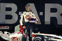 Jenson Button with the new BAR 006
