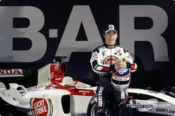 Takuma Sato with the new BAR 006