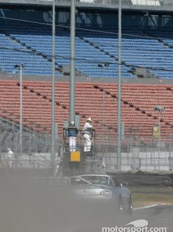 #12 TC Kline Racing BMW Z4: Anita Sangi, Neal Sapp goes wide