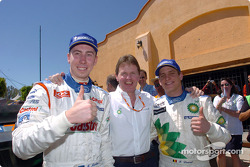 Markko Martin, Malcolm Wilson and François Duval celebrate