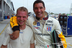 Corvette Racing teammates Jan Magnussen and Max Papis show no ill effects of their on-track incident of a few weeks ago