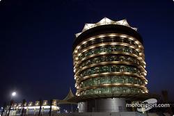 Bahrain International Circuit by night