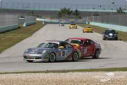 #19 Race Prep Motorsports Porsche 996: Mike Pickett, Spencer Pumpelly, and #58 Rehagen Racing Mustang Cobra SVT: Scott Turner, Dean Martin