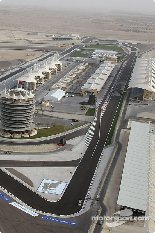 Vue aérienne du Bahrain International Circuit