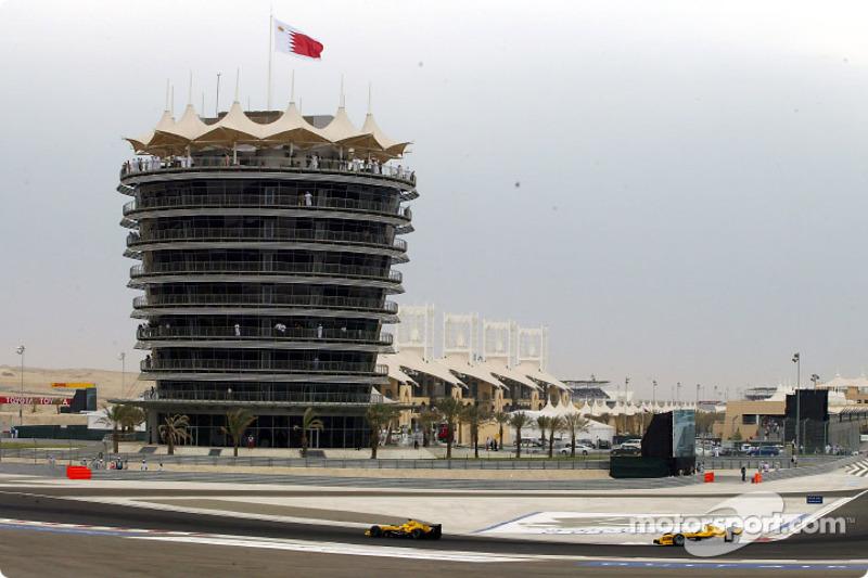 Giorgio Pantano, Jordan EJ14; Nick Heidfeld, Jordan EJ14