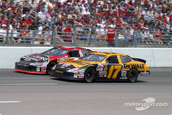 Ward Burton and Matt Kenseth battle