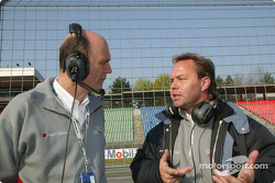 Head of Audi Motorsport Dr Wolfgang Ullrich with project chief Volker Nossek