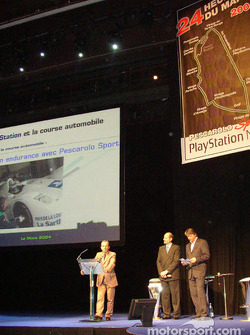 Pescarolo Sport 2004 presentation at the Empire theatre in Paris