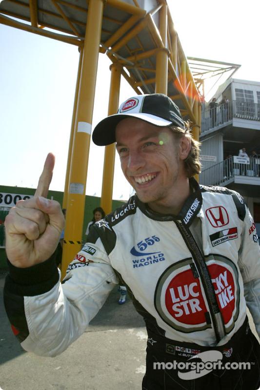 Jenson Button fête la première pole position de sa carrière