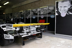 Racing for Holland garage area