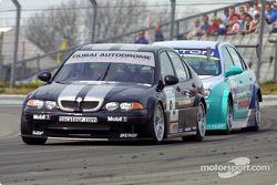 Colin Turkington chased by Shaun Watson-Smith