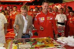 Michael Schumacher, Ferrari, feiert seinen 200. Grand Prix